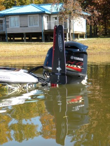 Dan's Power-Pole system is aided by the attachment of Power-Pole Drift Paddles for control of the boat while moving.