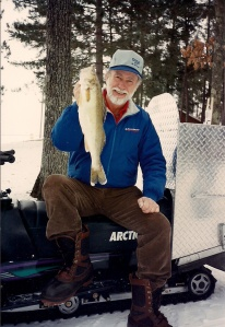 Gary Roach with Lake Winne walleye.
