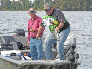 Blue Bank Resort's head guide Billy Blakely (R) has taught hundreds the ins and outs of crappie fishing on Reelfoot Lake in TN.